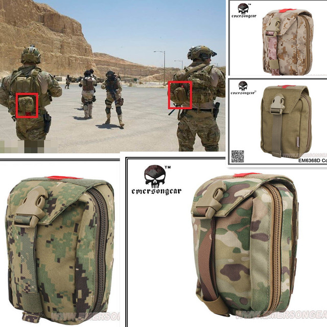 US $27 95 |Survival Product Military First Aid Kit Emerson Medic Pouch  Molle airsoft special force gear EM6368-in Pouches from Sports &  Entertainment