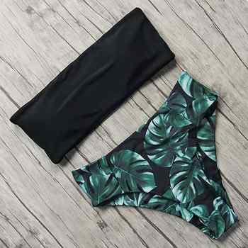 MOSHENGQI Sexy Bandeau Bikini 2019 Swimsuit High Waist Bathing Suit Black Bikini Set Female Swimwear Women Push Up Swimming Suit - DISCOUNT ITEM  34% OFF All Category