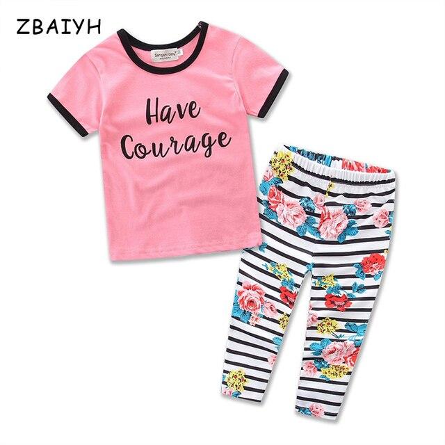 ZBAIYH Китайский Новый Год Детская Одежда Устанавливает Девочки Основные Рубашки + Брюки Письмо Топы Цветочные Брюки Бутик Костюм Для малыша