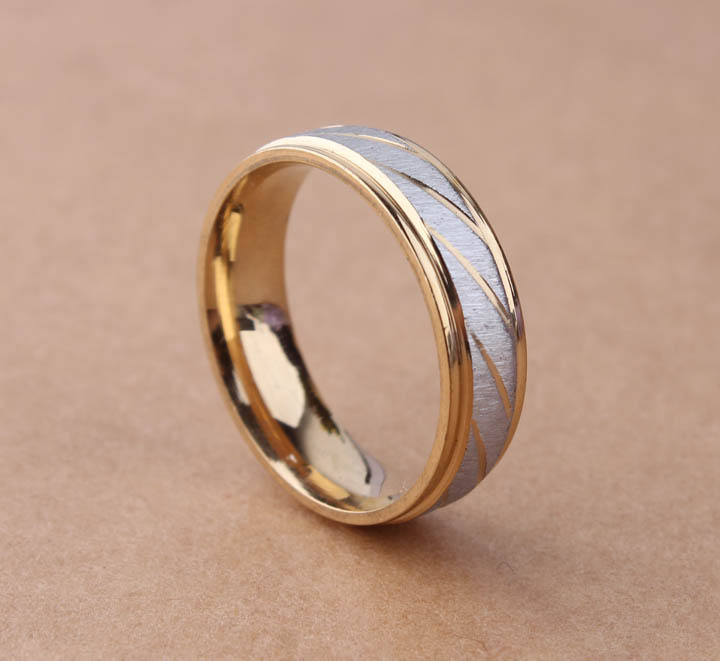 free shipping 316L Stainless Steel Superman Finger Rings blue Mens titanium steel gold color Color 6mm Width