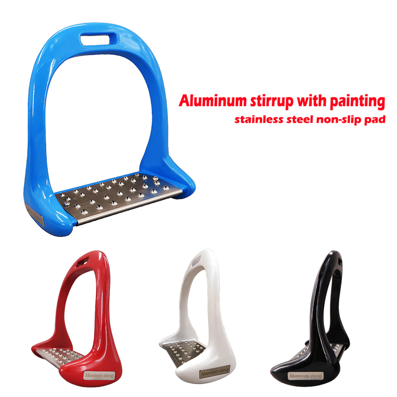 Aluminum hunting stirrup with rubber pad,horse product With Stainless Steel Anti-slip Pad High Quality Material AL