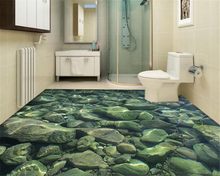 beibehang 3d wallpaper cobblestone bathroom wall paper three-dimensional floor interior beautiful aesthetic decorative