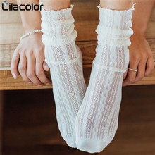 Woman Socks 1 Pair 2019 Spring Summer Solid Hollow Out Women Soft Cute Long For Mesh New Fashion Thin