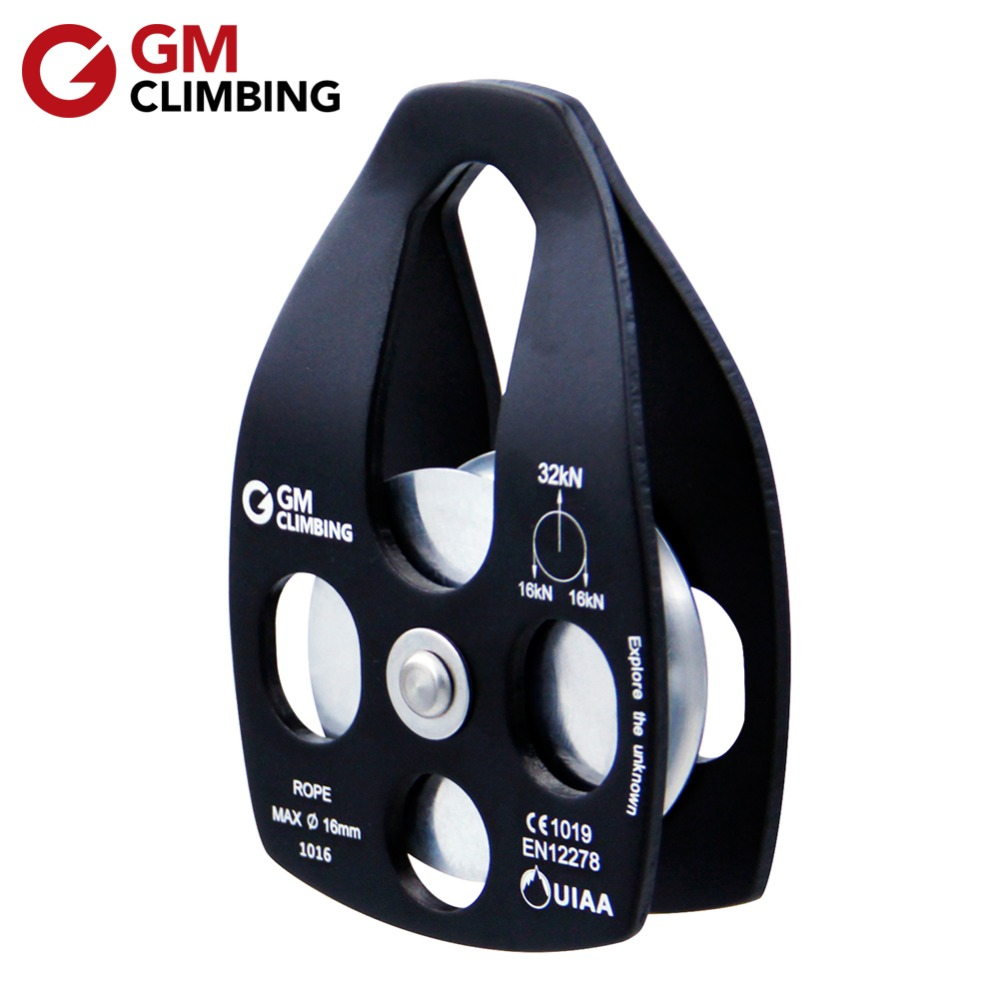 GM CLIMBING Pulley 32kN Tali Penyelamat Pulley CE / UIAA Arborist Rigging Rock Climbing Rescue Survival Equipment