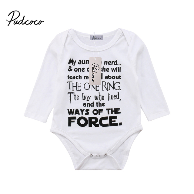 8f0cb06bb Newborn Baby Boy Cotton Long Sleeve Bodysuit Jumpsuit Clothes Outfit THE  BOY WHO LIVED Harry Potter