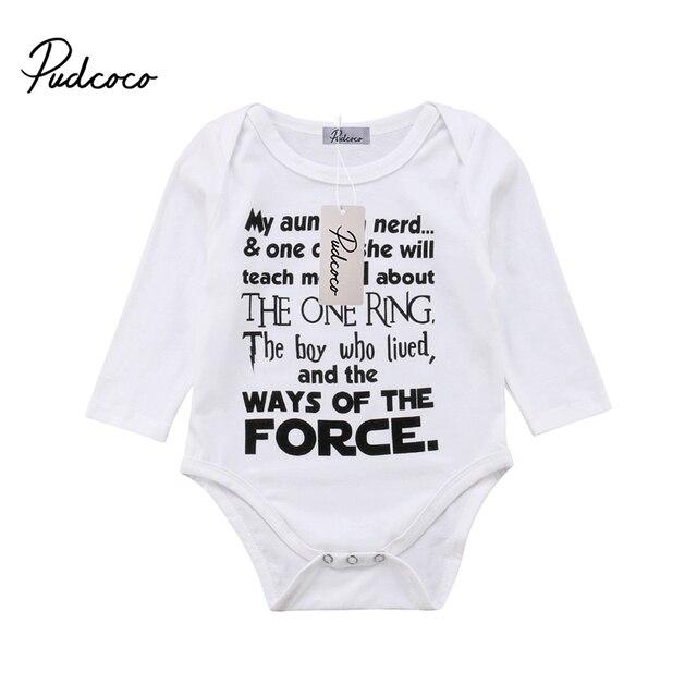 18ce4a9860d2 Newborn Baby Boy Cotton Long Sleeve Bodysuit Jumpsuit Clothes Outfit ...