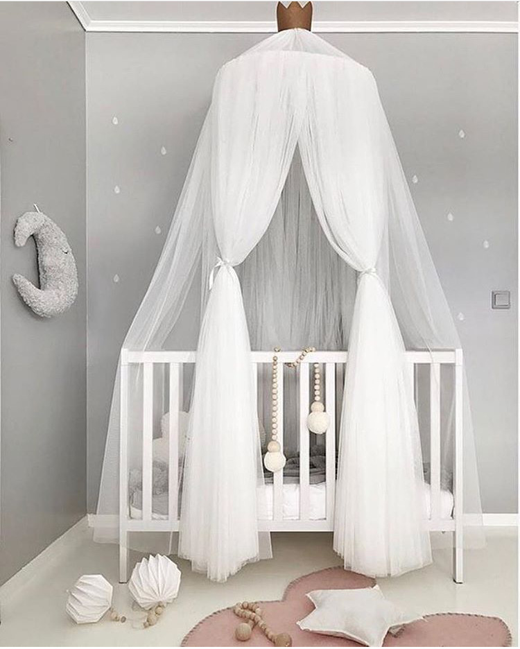 Crib Netting Hanging Kid Bedding Round Dome Bed Canopy Bedcover Mosquito Net Curtain Home Tent Baby Room Decoration Crib Netting 100% Original Crib Netting Mother & Kids