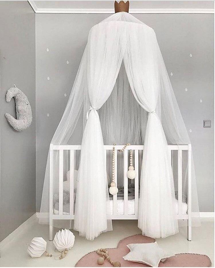 Red de cuna para niños, cama redonda, dosel, cubierta de cama, mosquitera, tienda de campaña para el hogar, decoración para habitación de bebé, red para cuna