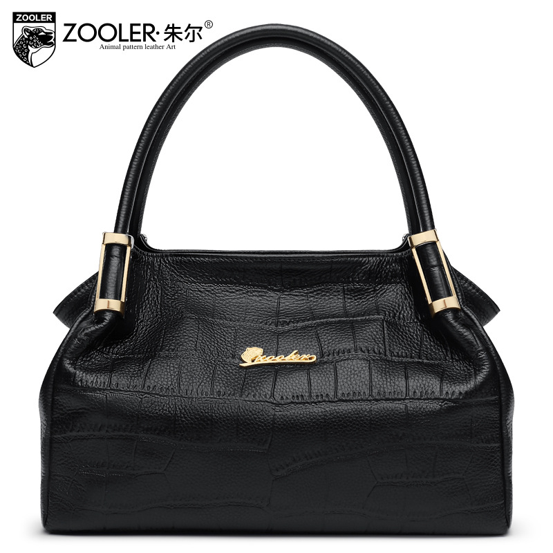 ZOOLER Women Genuine Leather Handbag Crocodile Pattern Shoulder Bag 2017 Lady Large Capacity Tote Bags for Female Messenger Bag стоимость