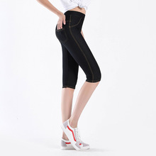 Good Quality Extra Large Size Women Capris Pants Super Stretch Thin Summer Female High Elastic Calf length Jeggings D62