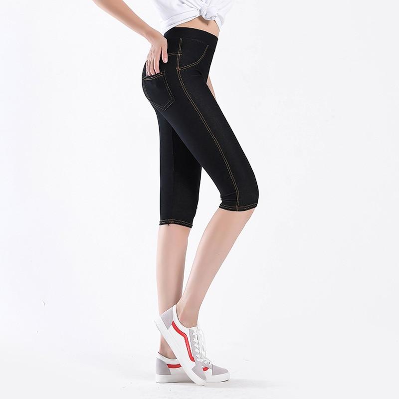 Good Quality Extra Large Size Women Capris Pants Super Stretch Thin Summer Female High Elastic Pants Calf length Jeggings D62