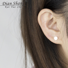 2017 Small Circle Stud Earings Fashion Jewelry Gold Silver Color Brincos Smooth Round Earrings For Women BFF Dainty Boho Jewelry