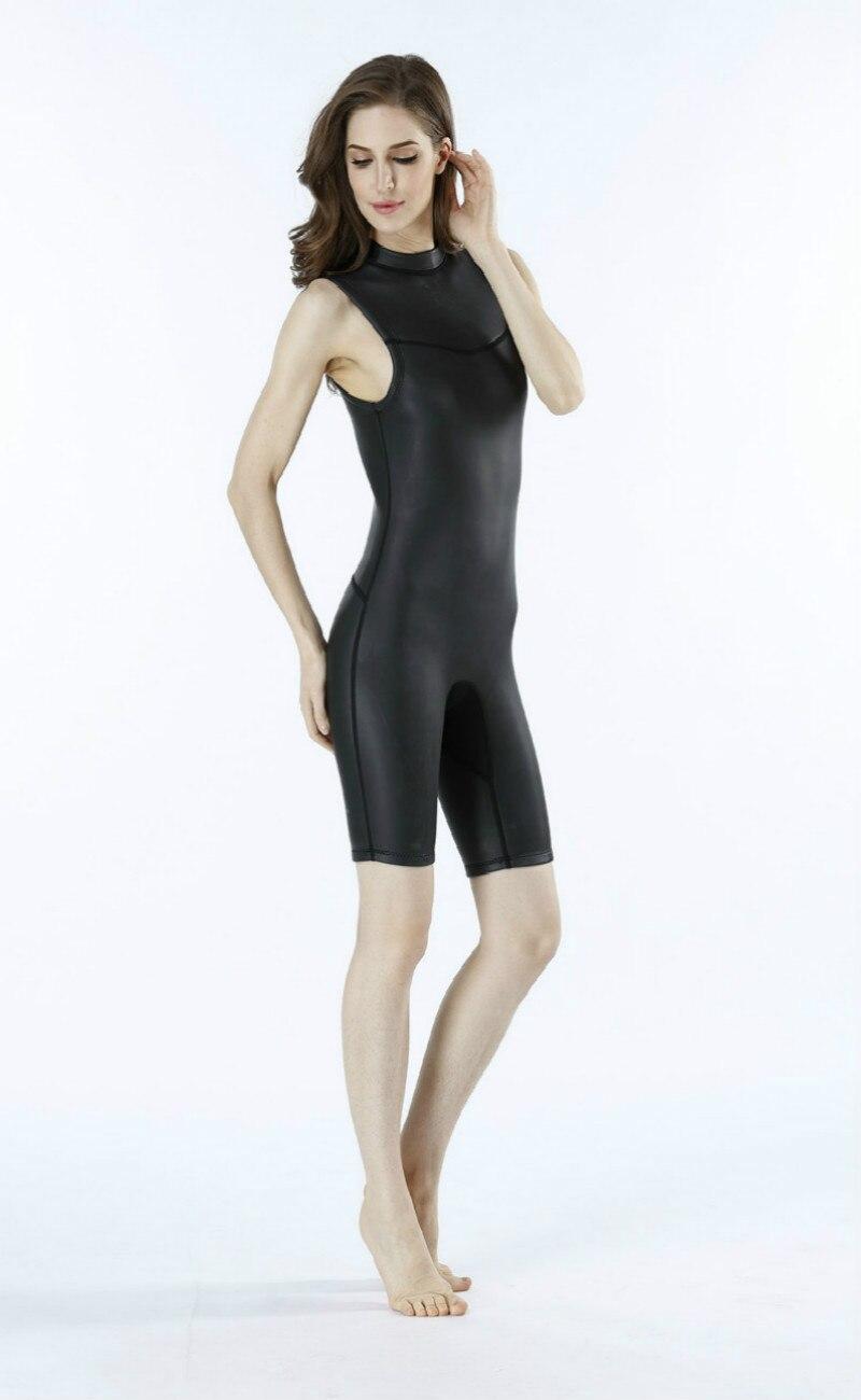Мужской женский 2 мм цельный гидрокостюм CR Короткий без рукавов гладкая кожа Гидрокостюмы ультра эластичный Дайвинг костюм