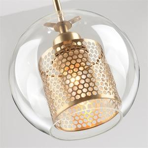 Image 4 - Lamp Glass Bulb Pendant Light Master Bedroom Luminaria De Teto Pendente Vintage Art Deco Vintage Industrial Pendant Nordic Loft