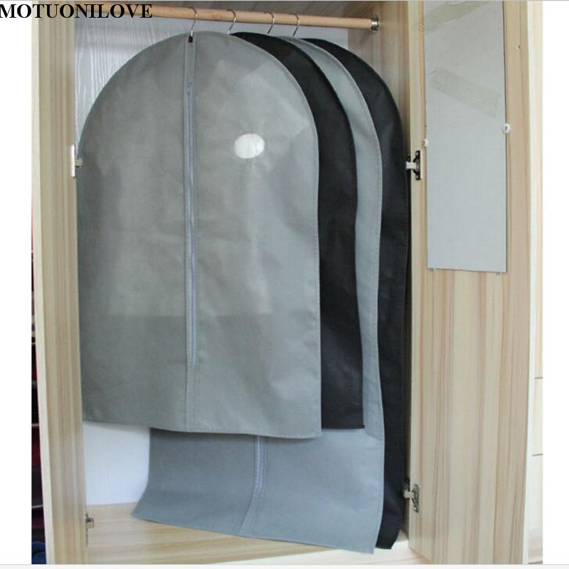 Cover Protector Wardrobe Storage Bag Case For Clothes Trench Coat Dress Garment Suit Coat Dust