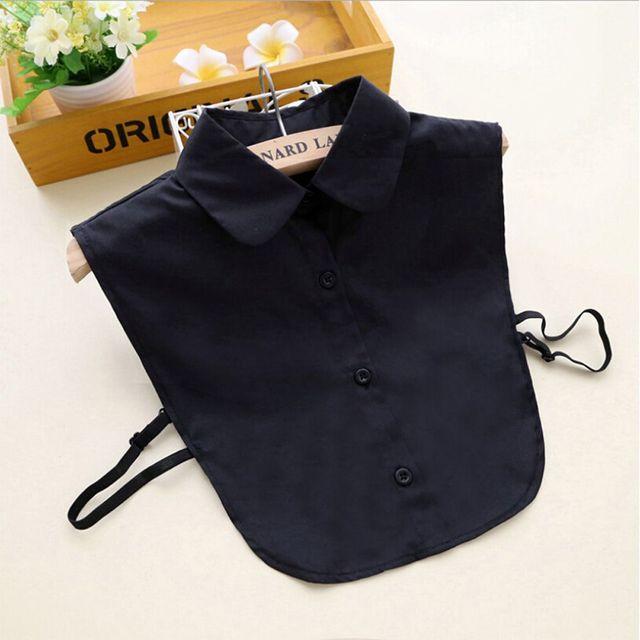 1PC Women Solid Shirt False Collar 4