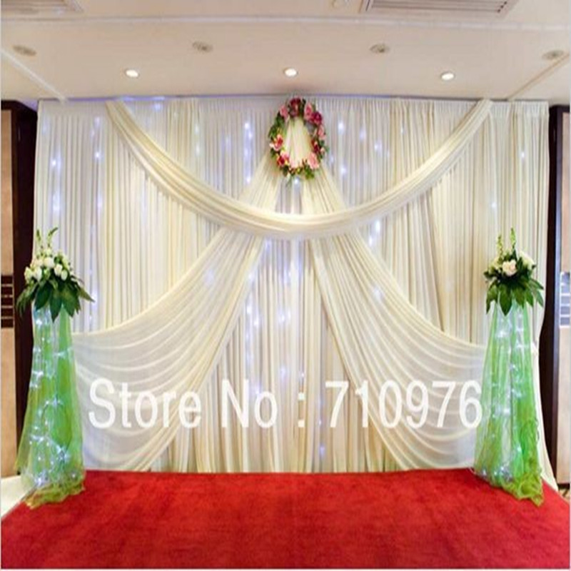 Ice silk material wedding backdrop curtain with swag backdrop ice silk material wedding backdrop curtain with swag backdrop wedding decorationwedding stage backdrop in figurines miniatures from home garden on junglespirit Gallery