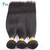 Panse Hair 3 Bundles Per Lot Non Remy Indian Hair Straight Weaving Double Weft Natural Black Hair Extension