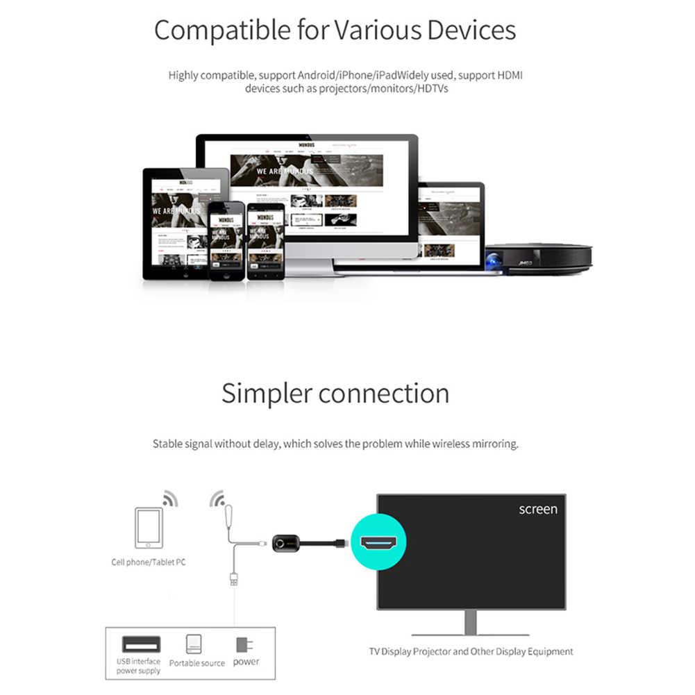 1 個 MiraScreen G9 ワイヤレスディスプレイ 2.4/5.0 グラム 1080 1080P UHD DLNA 無線 Lan ディスプレイドングル