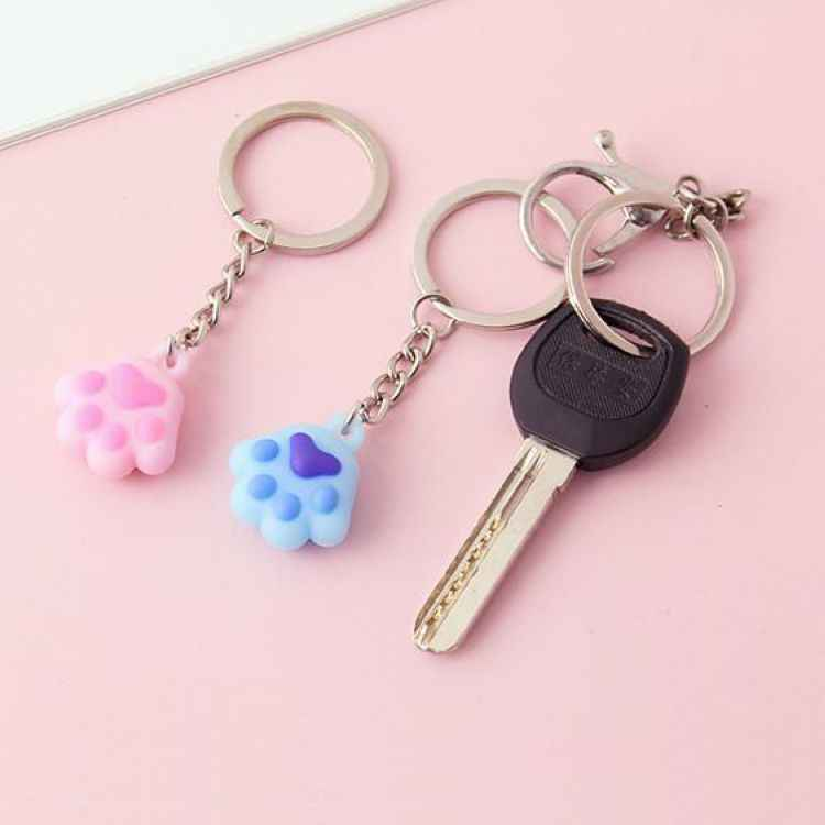 ขายส่งสีผสม Enamel Cat สุนัข/Paw Paw พิมพ์หมุนกุ้งก้ามกราม Clasp Keyrings สำหรับพวงกุญแจกระเป๋าเครื่องประดับทำ