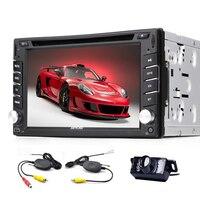 6.2 ''HD емкостный Сенсорный экран CD проигрыватели DVD Радио стерео dash Авто Радио BT плеер FM/AM USB/SD МЖК AUX + Бесплатный Резервное копирование Камера