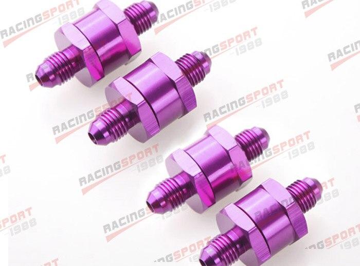 4 pièces 4AN Carburant Retour Un Clapet anti-Retour Essence Diesel D'alliage D'aluminium OWV-06-PURPLE-4