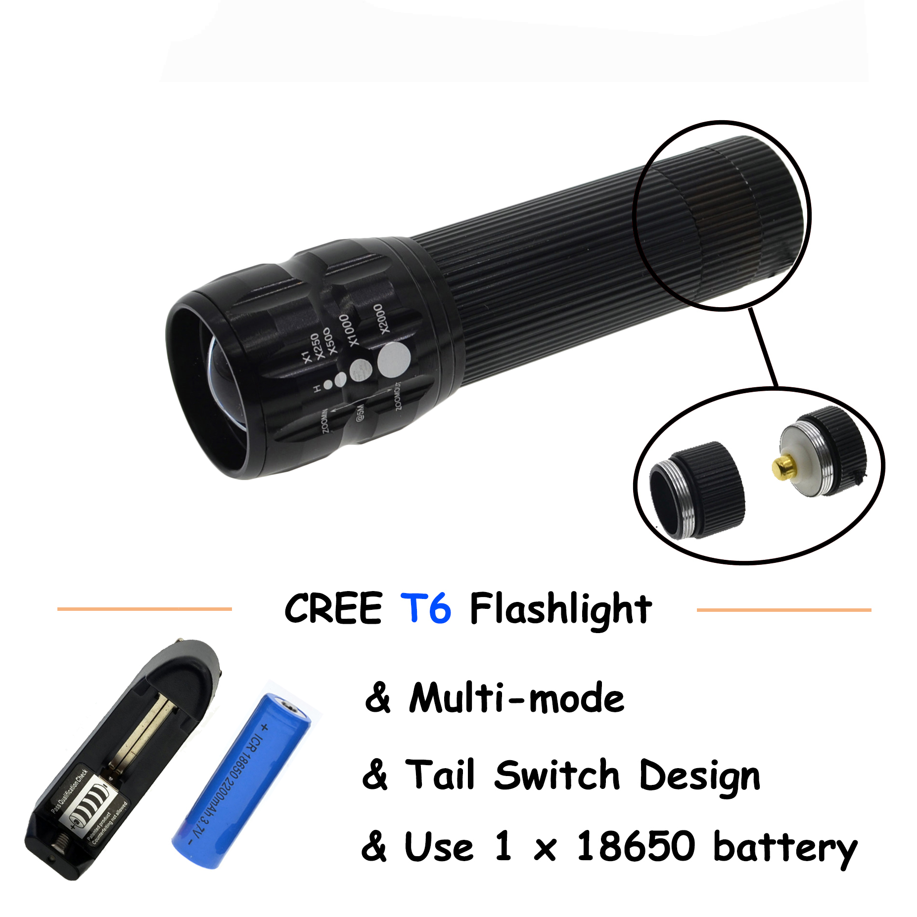 LED Flashlight  Torch  3 * AAA Batteries Zoomable LED Flashlight  for outdoor lighting high power led flashlight lamp 3 aaa batteries led torch zoomable mini torch lighting light for camping hiking 18020