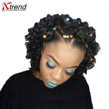 Xtrend 8Inch 20 roots Jumpy Wand Ombre Crochet Braids Synthetic Kanekalon Jamaican Bounce Curly Hair Extensions Freetress Twist(China)