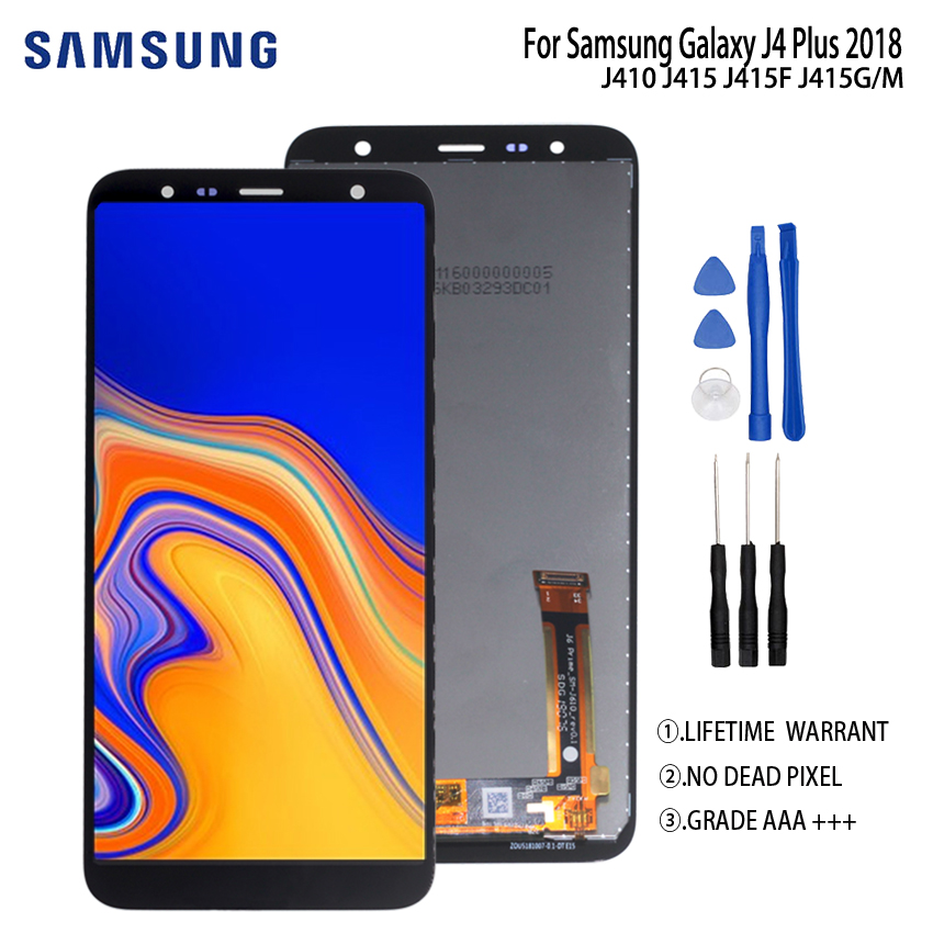 Original For Samsung Galaxy J4 Plus 2019 J415 LCD Display Touch Screen For Samsung J415F J415FN J415G LCD Digitizer Assembly