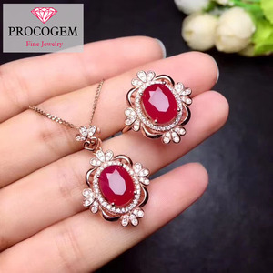 Natural Ruby Jewelry sets for