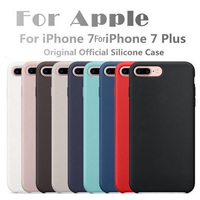 best service d3be3 3b4e4 US $9.38 |5xiaohuo Original Silicone Case For Apple For iPhone 7 8 Plus  Phone Cover case For iphone 6S 6 Plus cover-in Fitted Cases from Cellphones  & ...