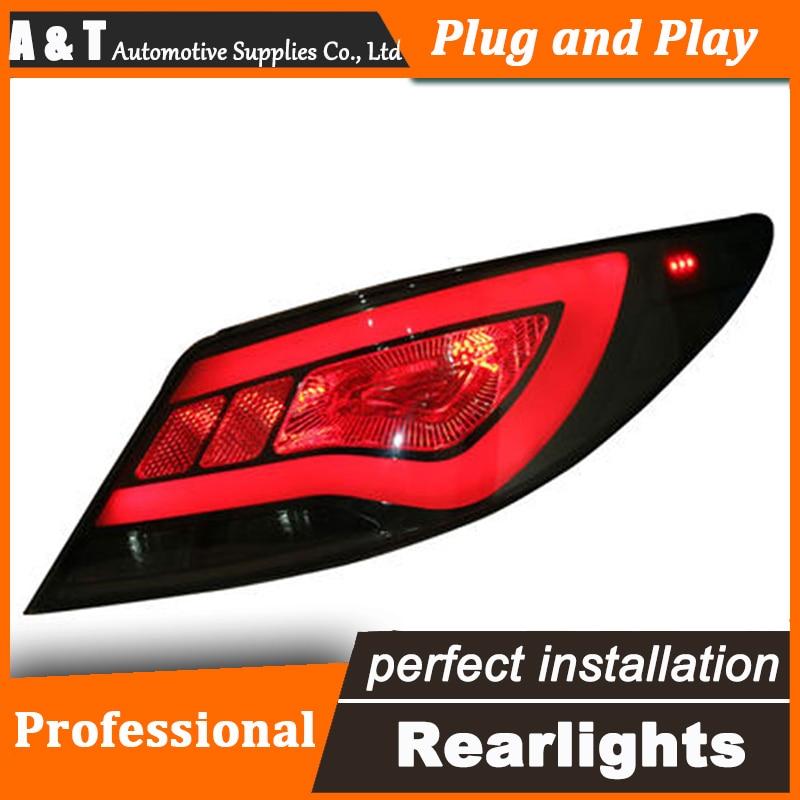 Feu arrière LED style voiture pour feux arrière Hyundai Accent Solaris Verna feu arrière DRL + clignotant + frein + accessoires auto marche arrière