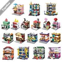 Miasto Model Brick Building Block Lody Sportowe Sklep Jubilerski Sklep Kosmetyczny Zabawki Kompatybilny Z Przyjaciółmi LegoINGlys Ulicy Widok Prezent