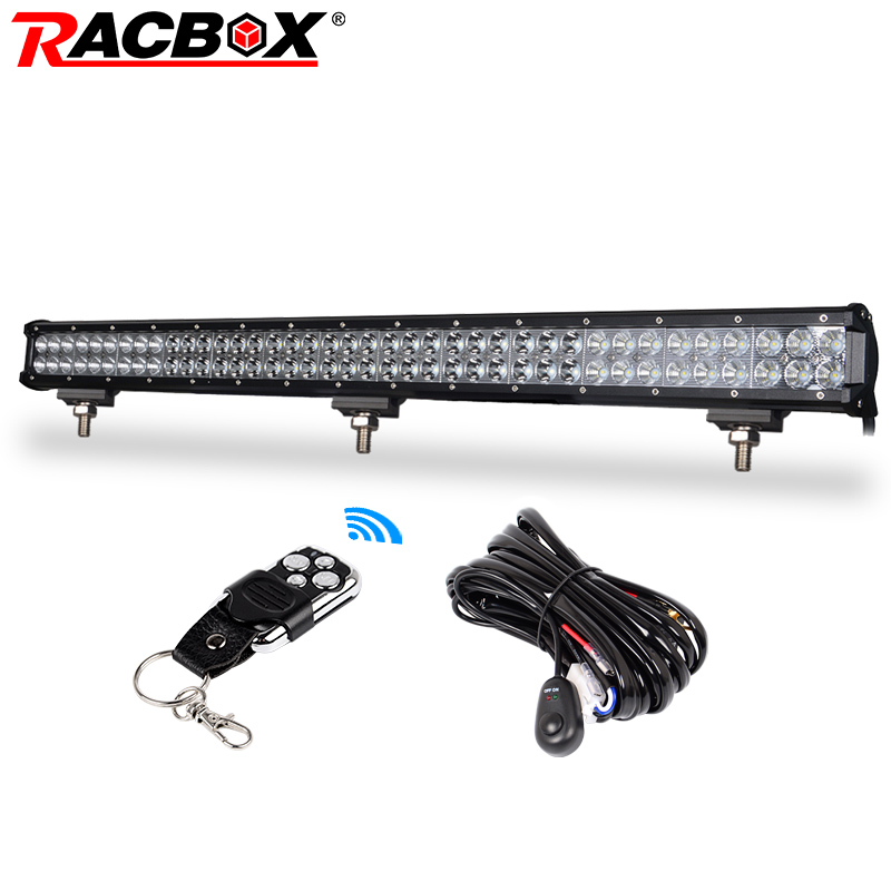 RACBOX 36 inch Offroad LED Work Light Bar Spot Flood Combo 234W 12V 24V for Automobile Car ATV SUV 4X4 Boat Truck 6000K White средства для стирки synergetic средство для стирки synergetic 5 л
