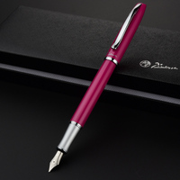Luxury Pimio Silver Clip Pink Black Purple Yellow White Fine Nib Fountain Pen Business Christmas Gift Ink Pens with A Gift Box