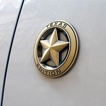 TEXAS EDIÇÃO de Metal Do Emblema Do Emblema da Etiqueta Do Logotipo Do Carro Estilo Do Carro Adesivo Para Carros Universal Motos Acessórios Decorativos