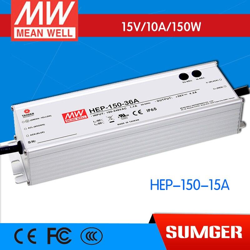 все цены на 1MEAN WELL original HEP-150-15A 15V 10A meanwell HEP-150 15V 150W Single Output Switching Power Supply онлайн