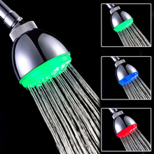Brand New High Quality 3 Color LED Shower Head Temperature Sensor RGB Bath Sprinkler