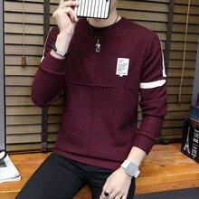 HO 2018 men round collar turtleneck sweater long-sleeved stripe thin sweater
