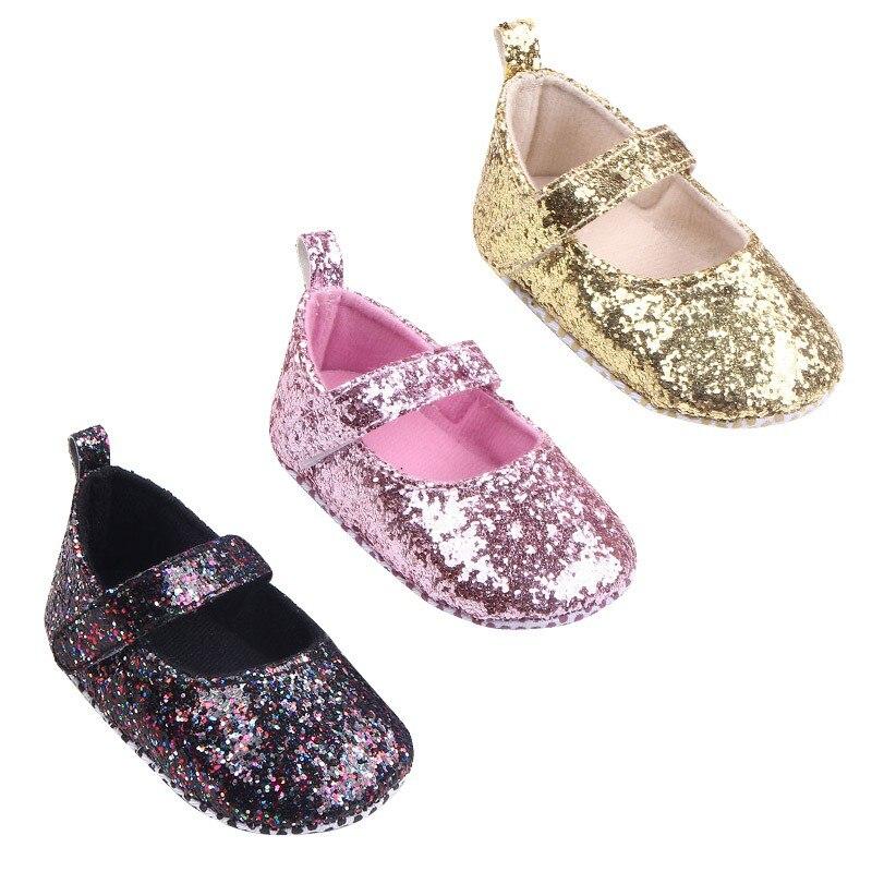 Baby meisjes eerste Walker peuter katoen Sequin baby zachte enige - Baby schoentjes - Foto 5