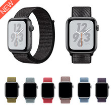2018 Nike Sport Loop band for Apple Watch Series 4 44mm 40mm New Woven Nylon Strap Bands for Apple Watch 42mm 38mm Series 3 2 1(China)