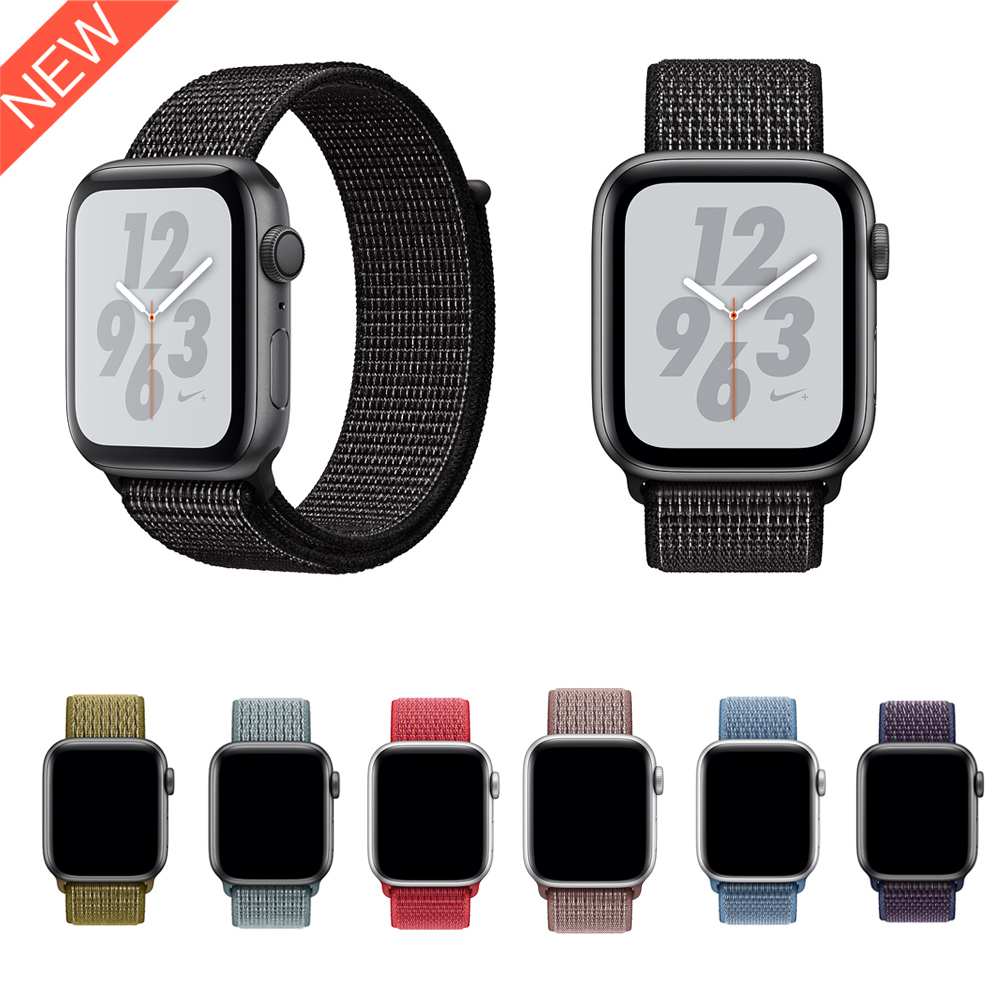 2018 Nike Sport Loop Band For Apple Watch Series 5 4 44mm 40mm New Woven Nylon Strap Bands For Apple Watch 42mm 38mm Series 3 2