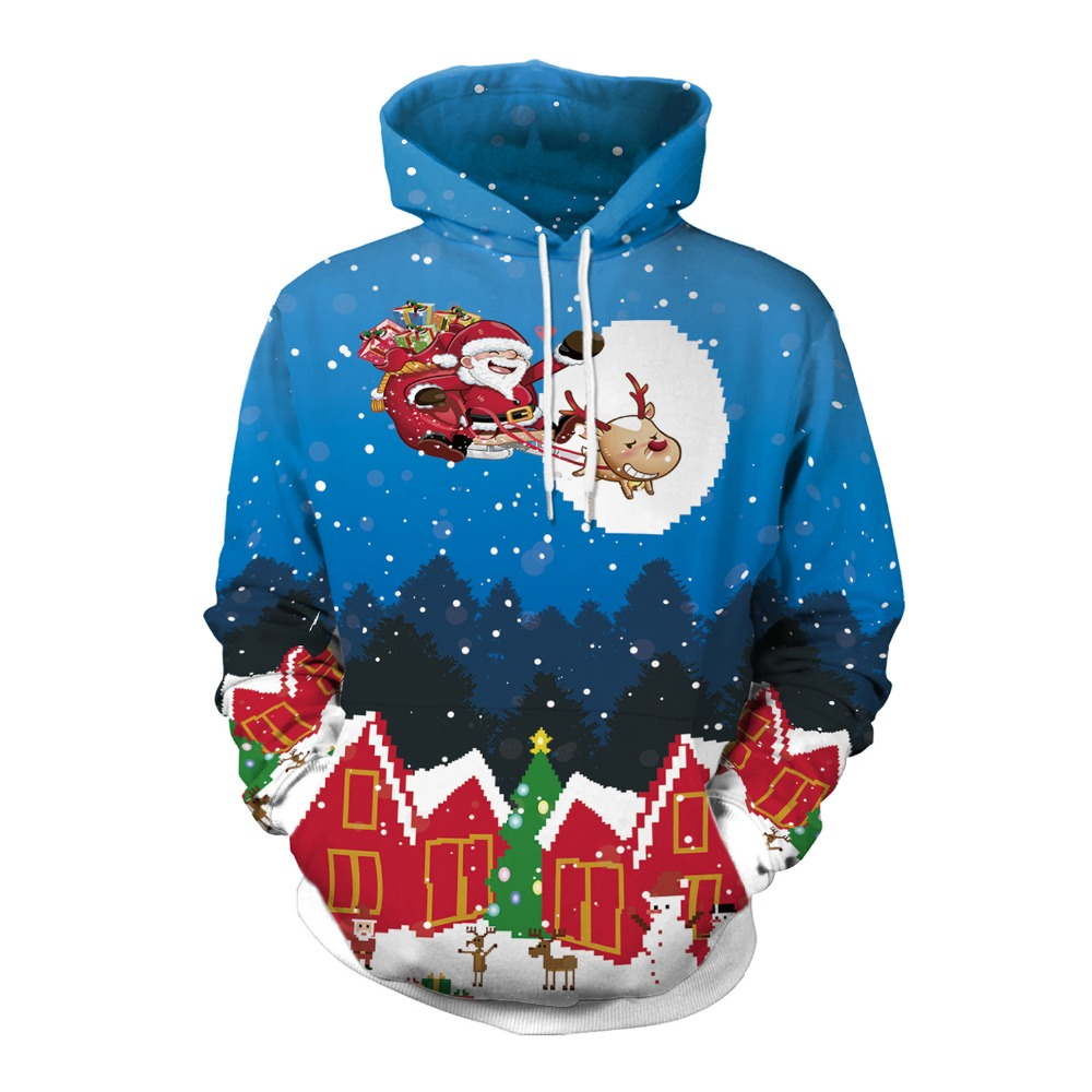 Cute print Christmas sweater for men and women 3D printed Christmas costumes Santa costume