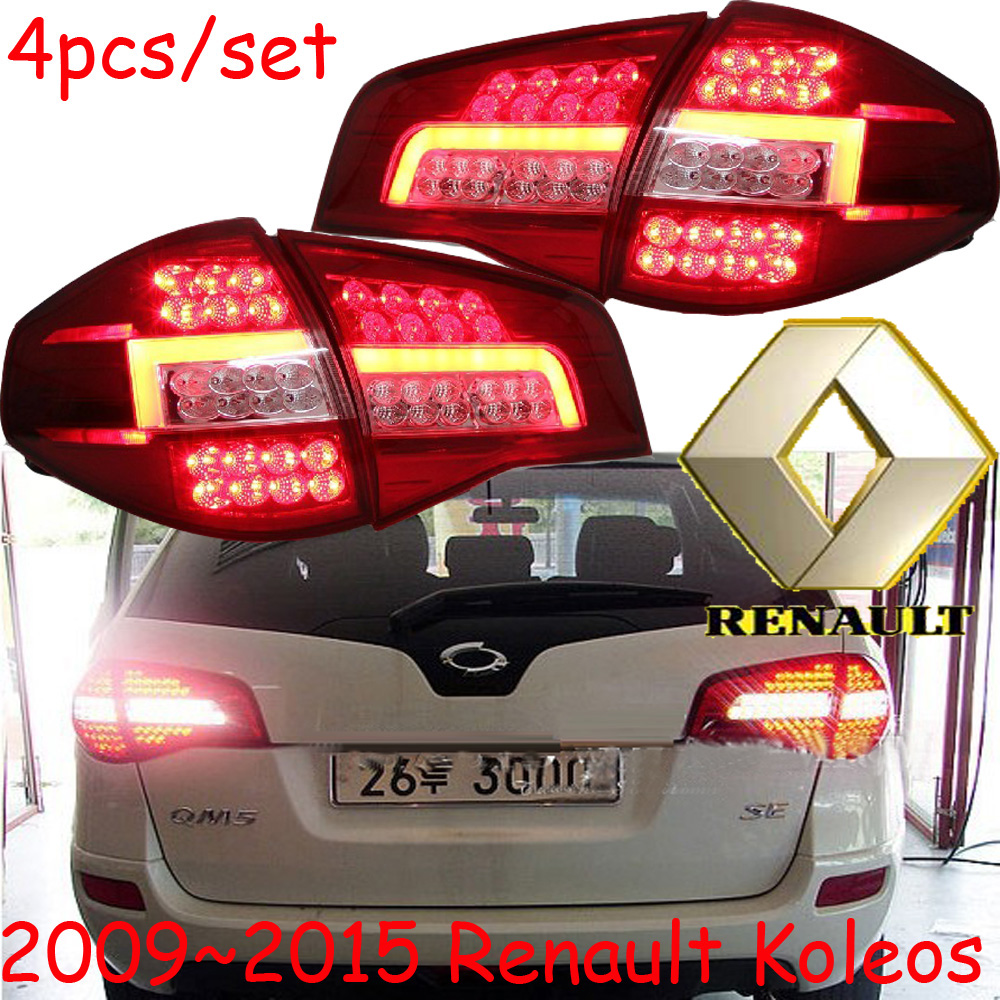 ФОТО Koleos taillight,LED,2009~2015,Free ship!4pcs/set,Koleos rear light,Koleos Fog light