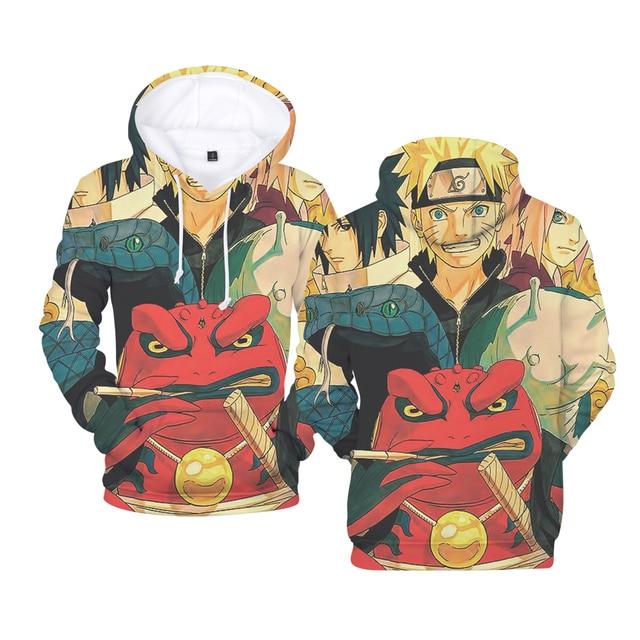 cartoon characters uzumaki naruto sasuke 3d anime hoodie sweatshirt
