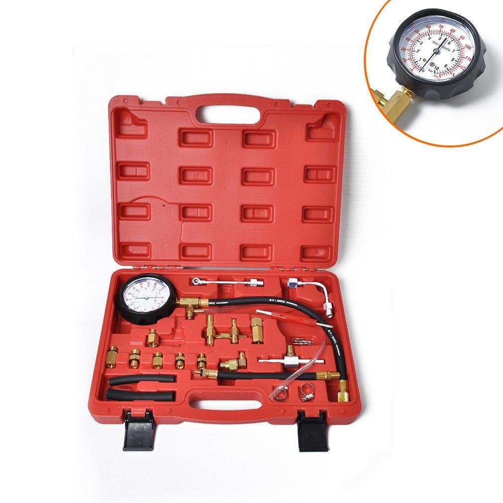 Tableau de détection de pression d'injection de carburant + jauge de carburant + outil de détection de carburant + noyau de valve + outil de retrait