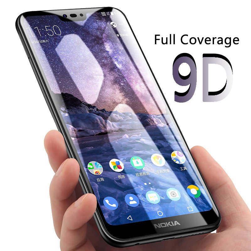 9D Full Glue For <font><b>Nokia</b></font> 6.1 Plus <font><b>Screen</b></font> <font><b>Protector</b></font> Tempered Glass For <font><b>Nokia</b></font> 5.1plus 5 6 6.1plus Protective Glas On Nokai6 2018 <font><b>5.1</b></font> image