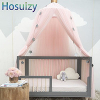 Round Mosquito Net Bed 240*26*50cm Crib Canopy Baldachin Decor Kids Baby Girls Room Nordic Decoration Home Bedtent Curtains