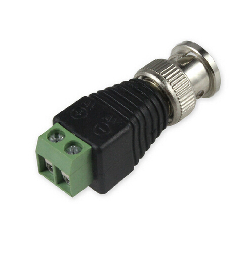 YiiSPO Wholesale 5pcs/lot Coaxial Coax CAT5 BNC Male Connector For CCTV Camera Security System New Arrival Free Shipping
