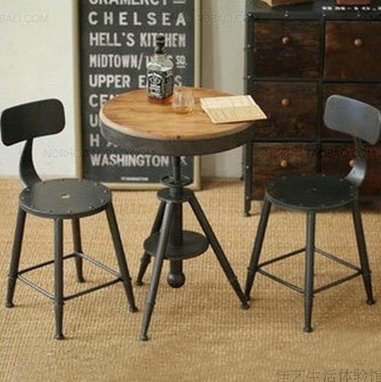 Europea francesa de poca de hierro forjado mesas de caf - Mesas de madera para exterior ...